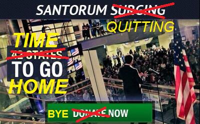 Rick Santorum exits stage left