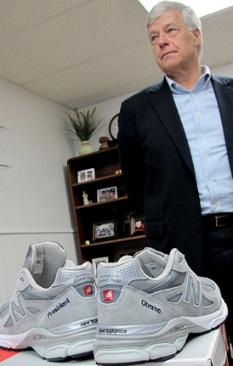 President Obama gets pair of personalized New Balance running shoes