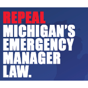 Opponents of Emergency Manager law repeal challenging petitions due to FONT SIZE