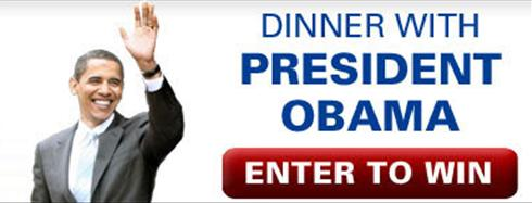 """Mitt Romney copies President Obama's """"Make a donation, win dinner with me"""" fundraising technique"""