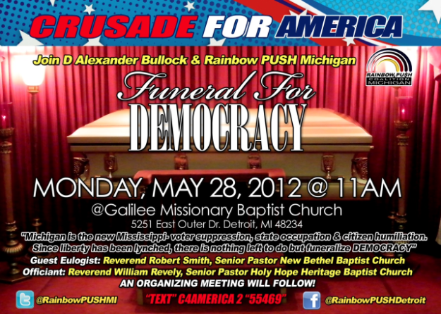 "A Memorial Day ""Funeral for Democracy"" – Interview with Rev. D. Alexander Bullock"