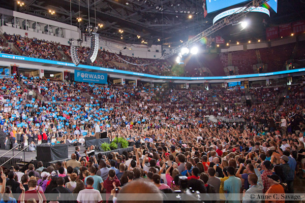 First official Obama rally of 2012 in Columbus, Ohio – PHOTOS & Interactive PANOS