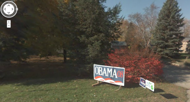 Even Google Maps knows I'm an Obama supporter