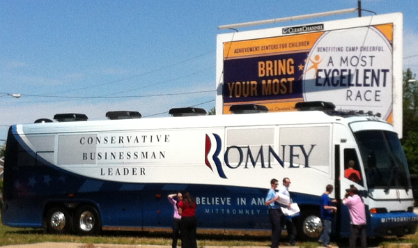 "Mitt Romney's 3rd grade campaign team brings their ""most excellent race"" to Cleveland, Ohio"