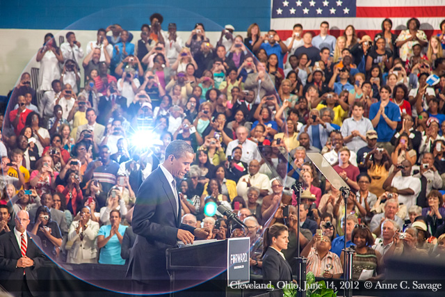 Photos and quotes from President Barack Obama's speech in Cleveland Ohio