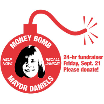 Money bomb for the Recall of Troy Tea Party Mayor Janice Daniels – Please help