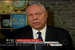 """VIDEO: Former Secretary of State General Colin Powell endorses Pres. Obama – """"Romney's foreign policy is a moving target"""""""
