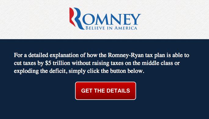 BREAKING: Details on Romney's tax plan finally revealed