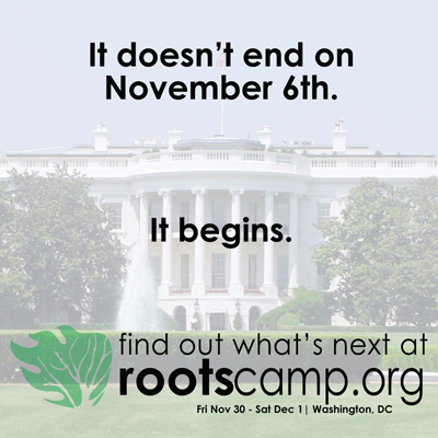 RootsCamp 2012 – Nov 30-Dec 1 in Washington, D.C. – The next step for progressive grassroots organizing