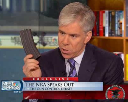 "Gun fetishists jump the shark: ""Gun laws are bad because David Gregory showed 30-bullet magazine illegally on Meet the Press"""