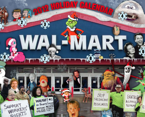 Support Walmart strikers, check out the Walmart Holiday Calendar to learn more about their abuse of workers
