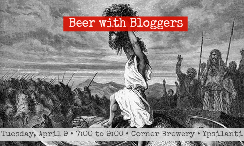 "Save the date: ""Beer With Bloggers"" gathering NEXT TUESDAY at the Corner Brewery in Ypsilanti"