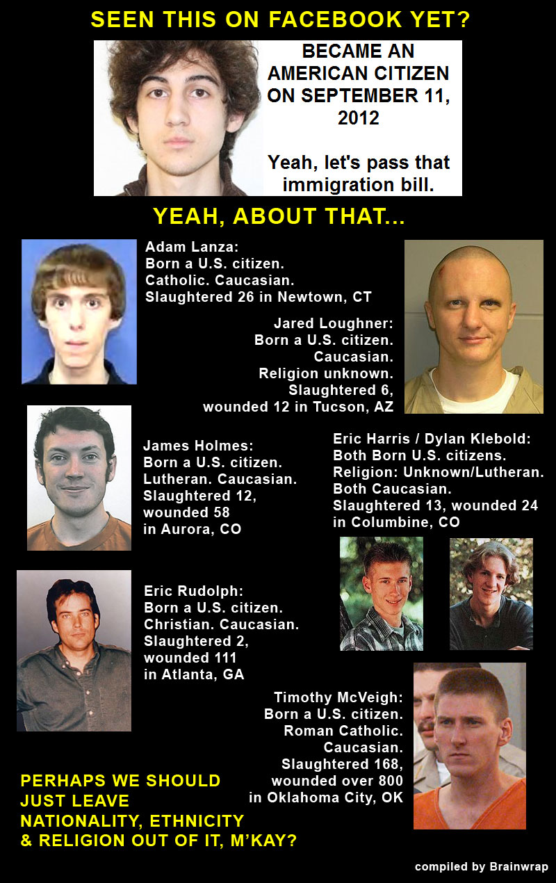 "Tsarnaev ""9/11 Citizen"" Anti-Immigrant Angle Debunked"