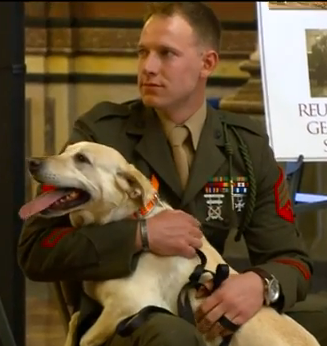 Wisconsin marine reunited with dog he served with in Afghanistan