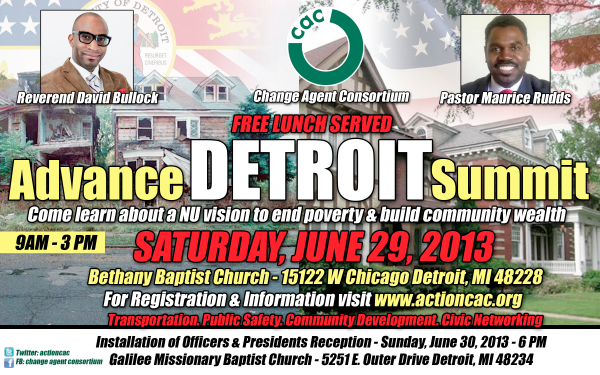 COMMUNITY ACTION: Change Agent Consortium holds their Advance Detroit Summit this SATURDAY