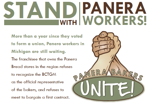 ACTION: Panera Bread uses Natl. Labor Relations Review Board dysfunction to exploit bakers trying to unionize