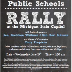 AUDIO: Grassroots organizers talk about the Save Michigan's Public Schools rally