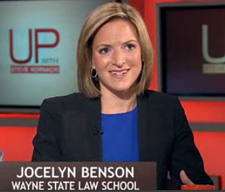 Jocelyn Benson on MSNBC talks about Michigan, Detroit, and working together to solve problems