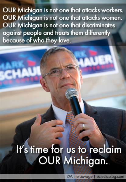 Mark Schauer put Rick Snyder on the defensive in their one debate, Snyder acted frantic