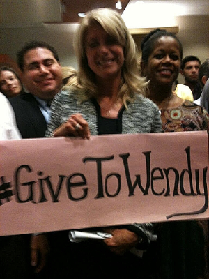 Money Bomb for Wendy Davis for Texas Gov raises over $10,000. Let's turn it up to 11 (or more).