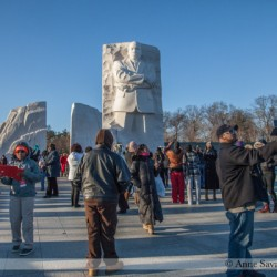 Were there any Republicans giving press interviews at the MLK, Jr. memorial in Washington, DC this week? Just askin'…