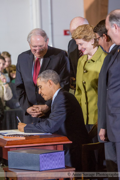PHOTOS: President Obama signs historic bipartisan farm bill in East Lansing, Michigan