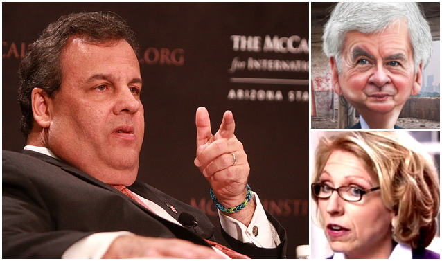 Chris Christie brings the stink of his scandals to Rick Snyder and Terri Lynn Land