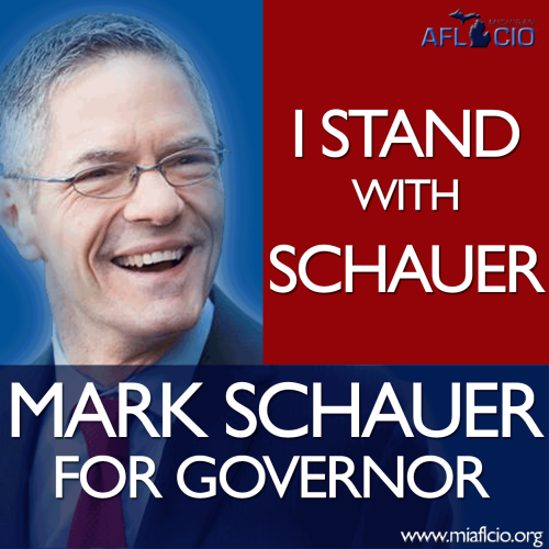 Mark Schauer accepts endorsement of AFL-CIO