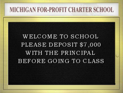 Michigan for-profit charter schools industry fires up its propaganda machine