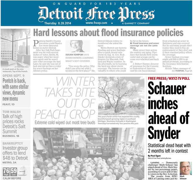 """Democrat Mark Schauer leads Gov. Rick Snyder in most recent poll, Snyder spokeswoman calls EPIC-MRA poll """"garbage"""""""