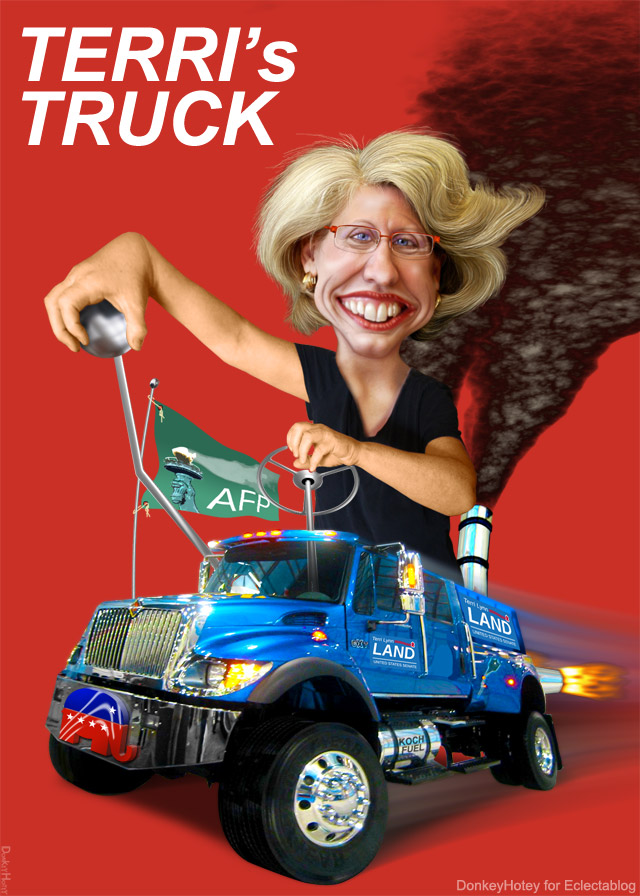 BREAKING: Michigan Democratic Party files FEC complaint over Terri Lynn Land's monster campaign trucks