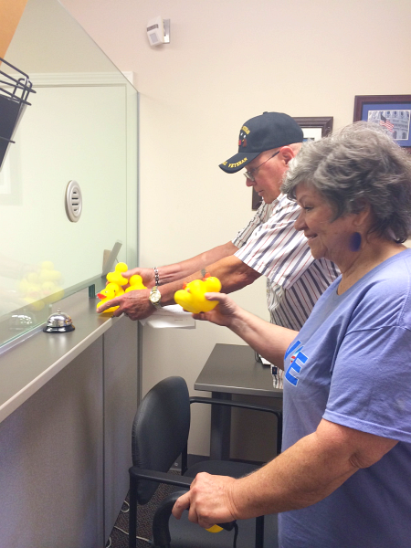 MI-07 residents deliver 7 rubber ducks to Tim Walberg's office asking him to stop ducking the issues