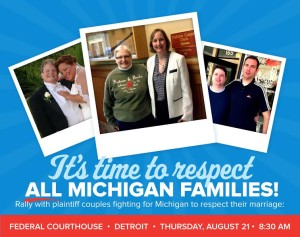 EVENT: Rally for marriage equality in Detroit, Thursday, August 21st
