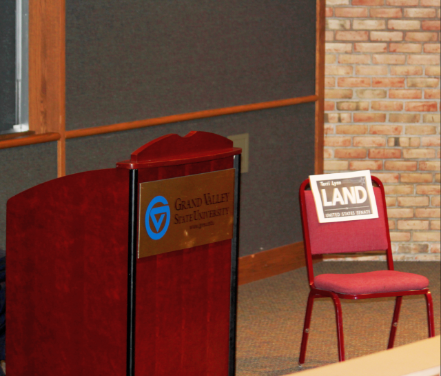 Gary Peters debates an empty chair after Land is a no-show (and other news)