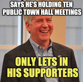 UPDATED: You, too, can go to a Rick Snyder town hall meeting to ask questions. If you are a supporter, that is.