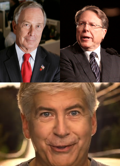 Strange bedfellows: Republican Rick Snyder endorsed by anti-gun Michael Bloomberg AND the NRA