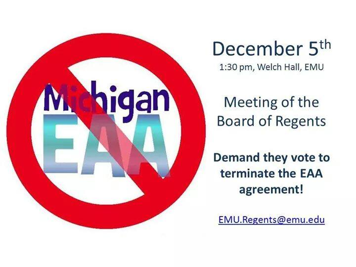ACTION/EVENT: Join EMU faculty, students, & alumni in their continued fight against EAA partnership