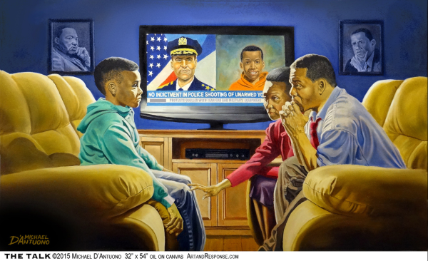 On MLK Day Michael D'Antuono's art depicts how far we have yet to go on race relations in America