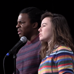 "Darius Simpson & Scout Bostley's poetry slam performance ""Lost Voices"" gives a voice to voiceless women & black men"
