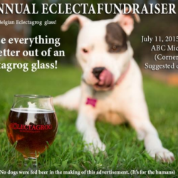 EclectaFundraiser party update – new sponsors and beer glasses!
