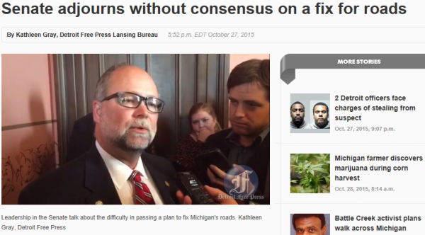 The epic failure of Michigan Republicans on road funding in 101 news headlines