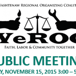 Washtenaw County WeROC organizers to hold public meeting seeking commitments from local leaders on multiple issues