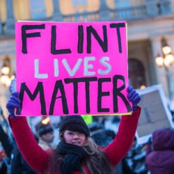 PHOTOS: #FlintWaterCrisis & Michigan State of the State protest – This is NOT what democracy looks like
