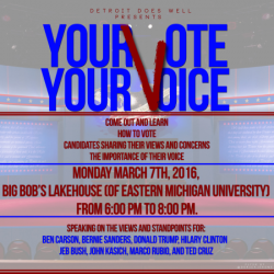 "EVENT: Youth group Detroit Does Well hosts ""Your Vote, Your Voice"" event TONIGHT in Ypsilanti"