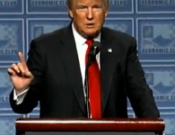 Donald Trump makes news in Detroit by not deviating from his teleprompter