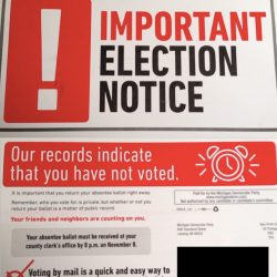 If you are an absentee voter in Michigan, PLEASE READ THIS!