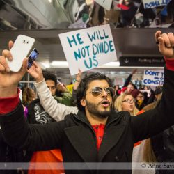PHOTOS/VIDEO: >2,000 protest Pr*s. Trump and his fascist immigration/refugee policies at Detroit Metro Airport (DTW)