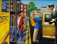 Socio-political artist Michael D'Antuono's latest work graphically depicts Betsy DeVos's devastating dream for education