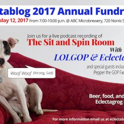 SAVE THE DATE: May 12th – 4th annual Eclectablog fundraising party and LIVE recording of the Sit & Spin Room podcast