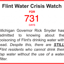 Two years ago today Gov. Snyder admitted to the #FlintWaterCrisis and people STILL cannot drink the water